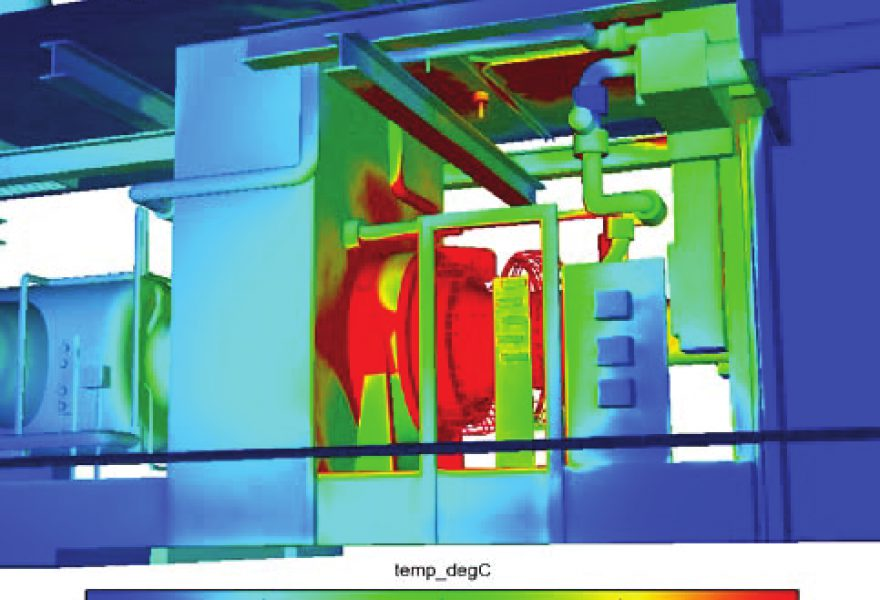 3D Scanners create 3D model for Compressor cab cooling strategies