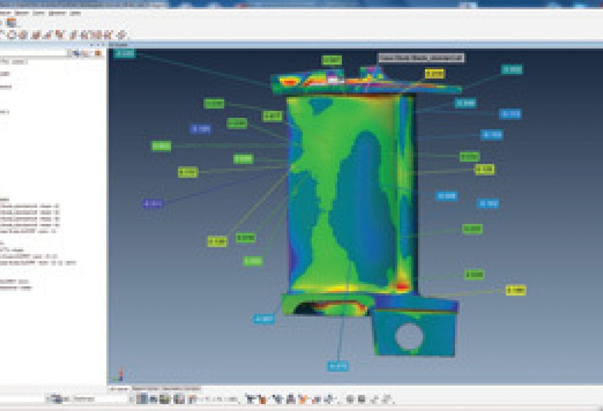 3D Scanners Inspect a NGV using PolyWorks