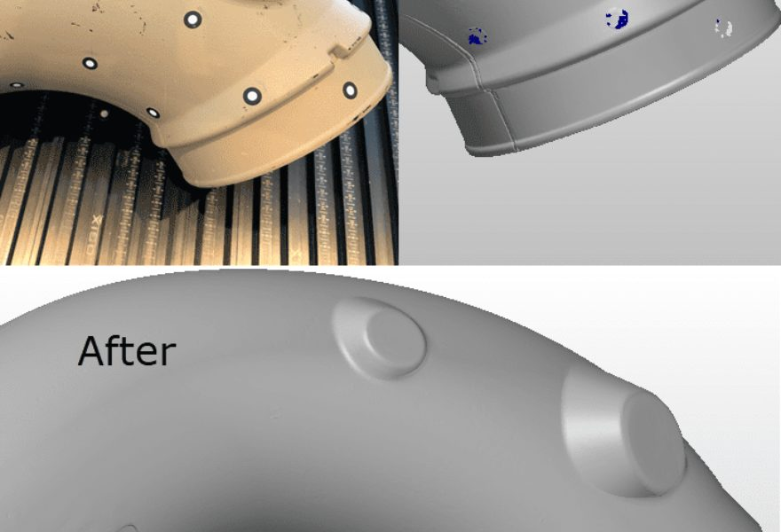 Use PolyWorks|Modeler™ Light to fill holes in polygonal models