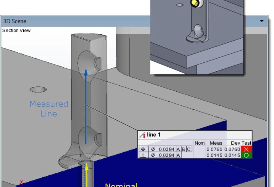 Correctly Evaluate GD&T Controls When Probing with a Vector Adapter