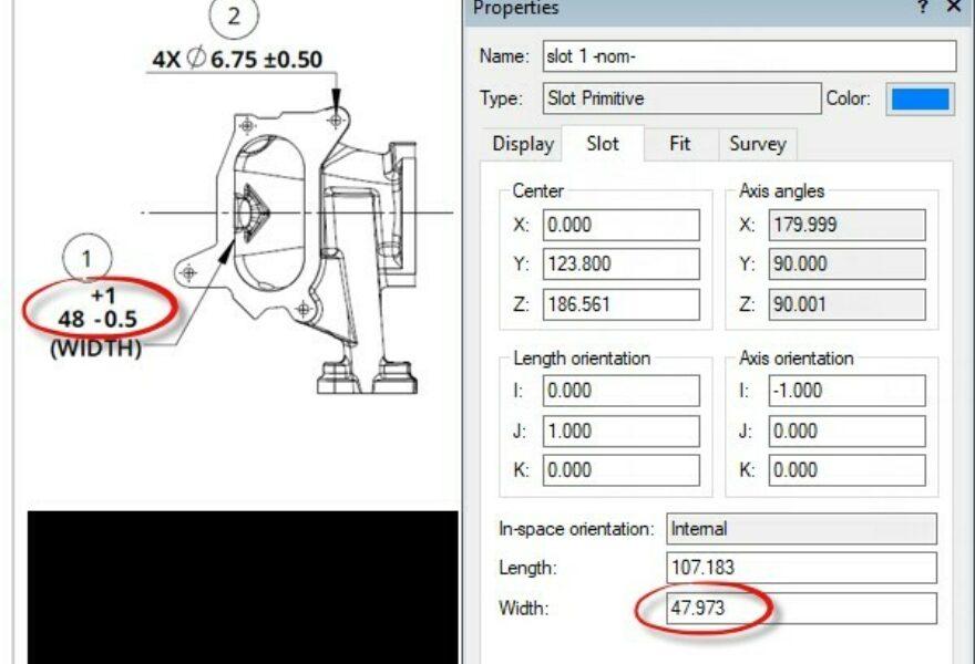 Adjust Nominal Features to 2D Print