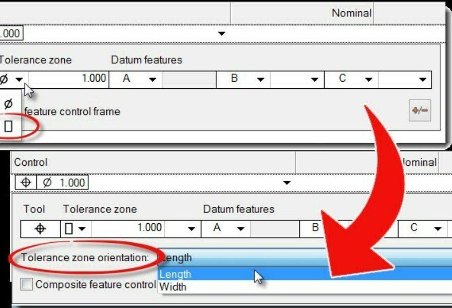 Define a Tolerance Zone Orientation for GD&T Position Controls