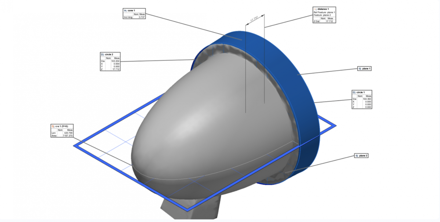 Reverse Engineering in a  traditional CAD package using  PolyWorks | Inspector™